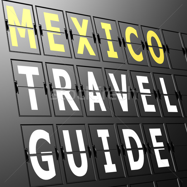 Airport display Mexico travel guide Stock photo © tang90246