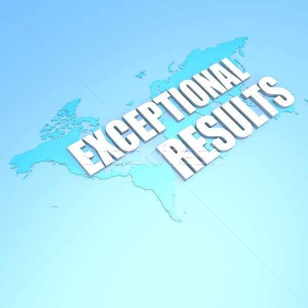 Exceptional results world map Stock photo © tang90246