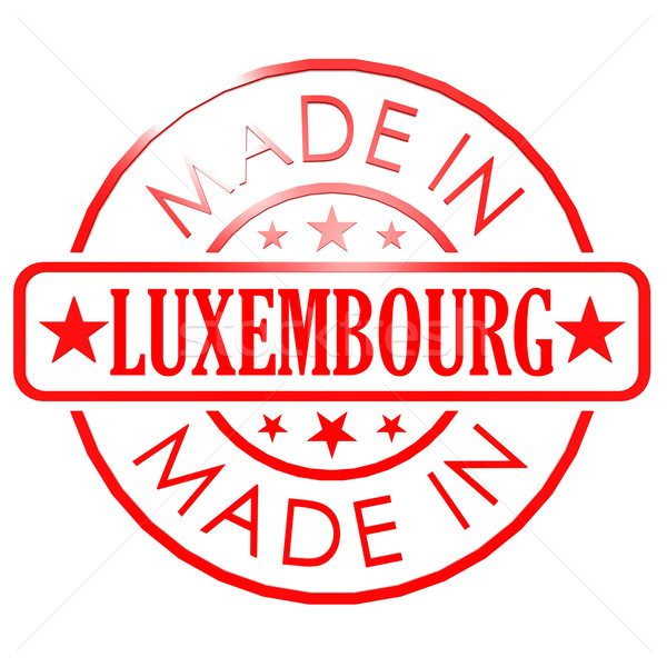 Made in Luxembourg red seal Stock photo © tang90246