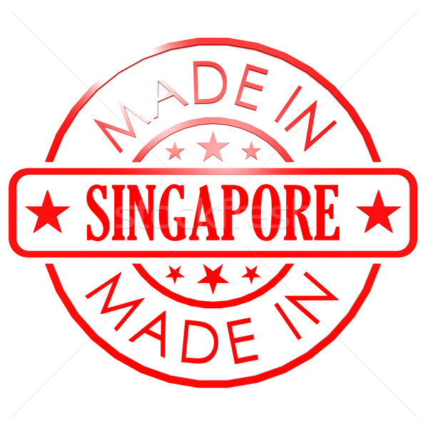 Made in Singapore red seal Stock photo © tang90246