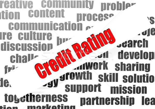 Credit Rating word cloud Stock photo © tang90246