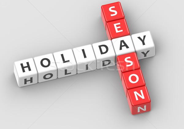 Buzzwords holiday season Stock photo © tang90246