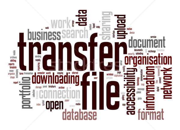 Transfer file word cloud Stock photo © tang90246