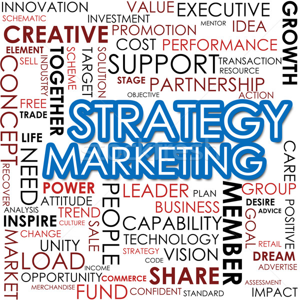Strategy marketing word cloud Stock photo © tang90246