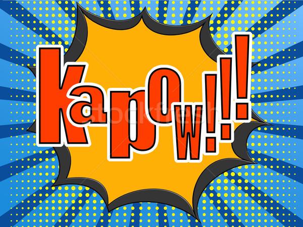 Kapow comic speech bubble Stock photo © tang90246