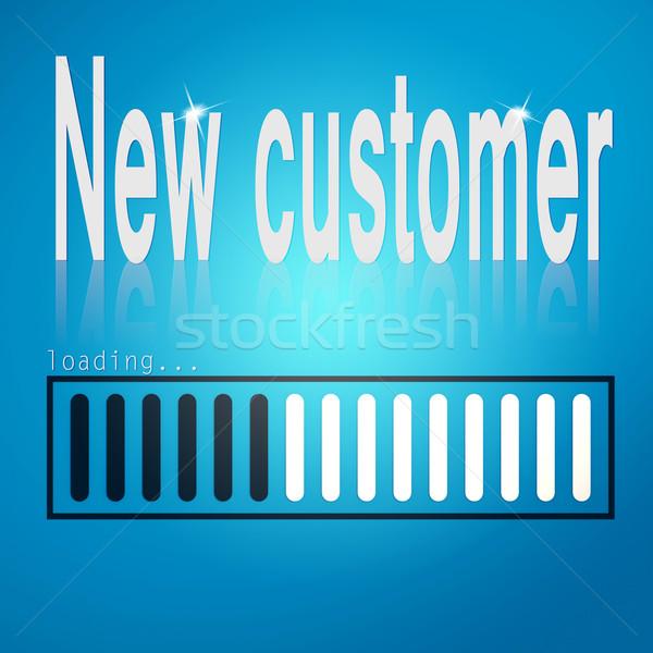 New customer blue loading bar Stock photo © tang90246