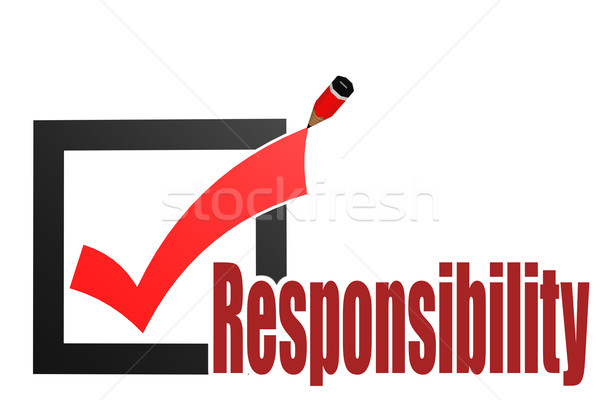 Check mark with responsibility word Stock photo © tang90246