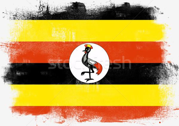 Pavillon Ouganda peint brosse solide résumé Photo stock © tang90246