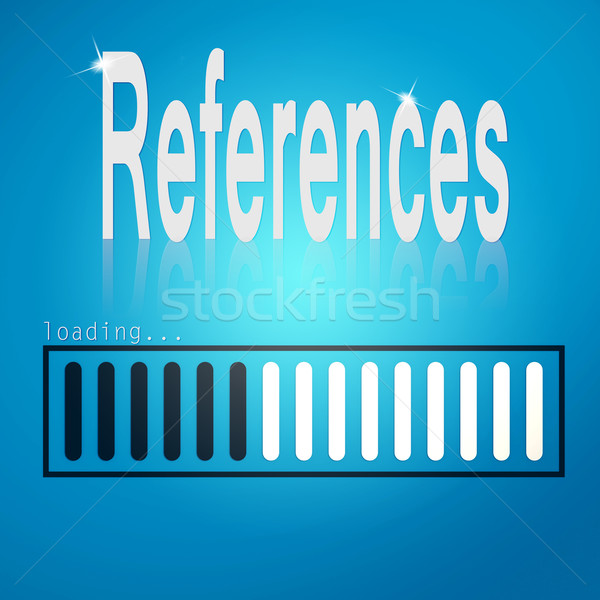 References blue loading bar Stock photo © tang90246