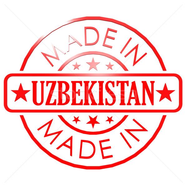 Üzbegisztán piros fóka üzlet papír terv Stock fotó © tang90246