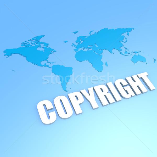 Szerzői jog világtérkép üzlet zene földgömb terv Stock fotó © tang90246