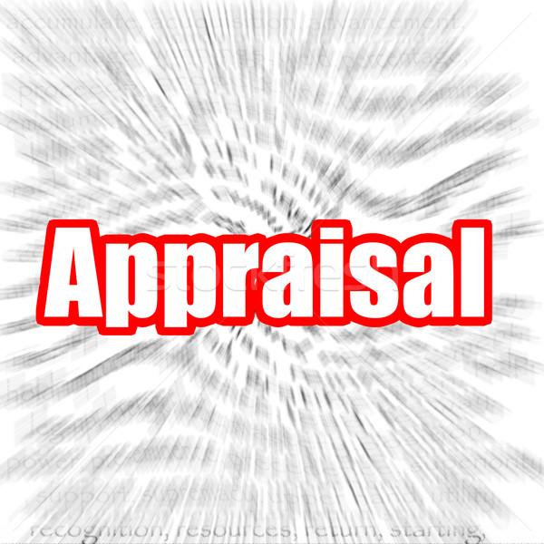 értékbecslés kép renderelt mű használt grafikai tervezés Stock fotó © tang90246