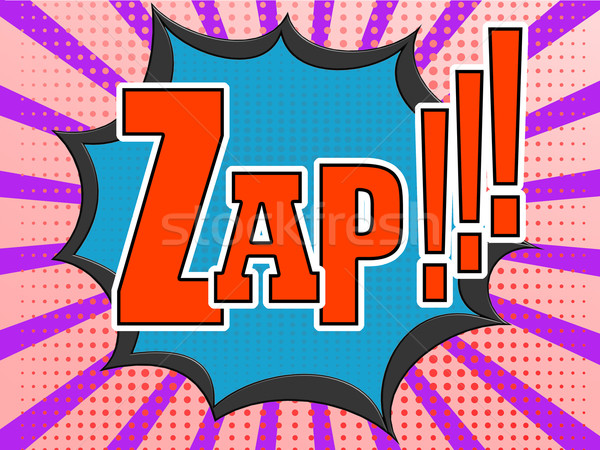 Zap comic speech bubble Stock photo © tang90246