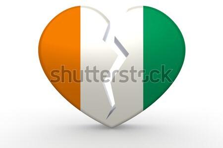 Wybrzeże Kości Słoniowej serca tle podróży banderą kraju Zdjęcia stock © tang90246