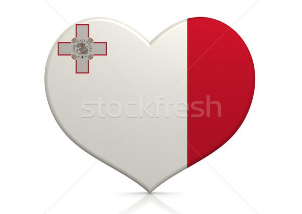 Malta hart achtergrond reizen land concept Stockfoto © tang90246