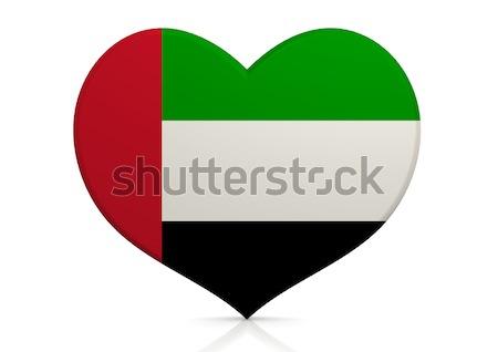 Egyesült Arab Emírségek szív háttér utazás zászló vidék Stock fotó © tang90246
