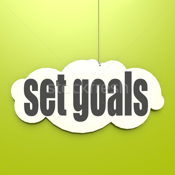 White cloud with set goals Stock photo © tang90246