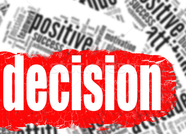 Word cloud decision business sucess concept Stock photo © tang90246
