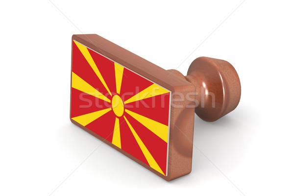 штампа Македонии флаг изображение оказанный Сток-фото © tang90246