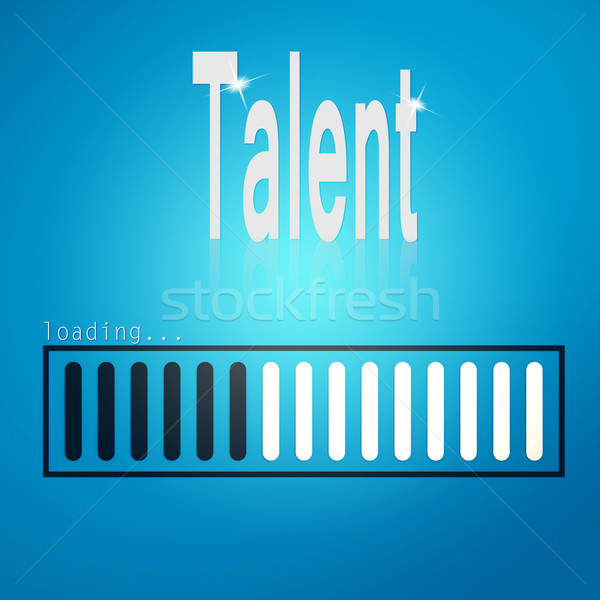 Progress Bar Loading with the text talent Stock photo © tang90246