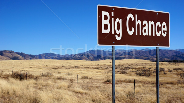 Big Chance road sign Stock photo © tang90246