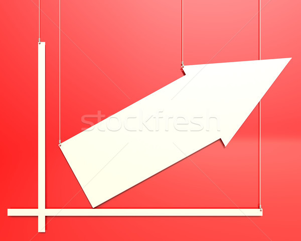 Blank chart hang on red background Stock photo © tang90246