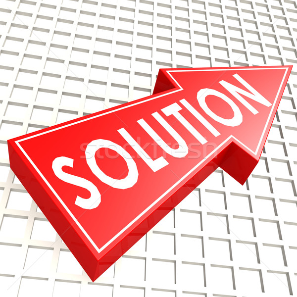 Solution arrow with graph background Stock photo © tang90246