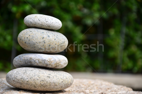 Stack of zen rocks in garden Stock photo © tang90246