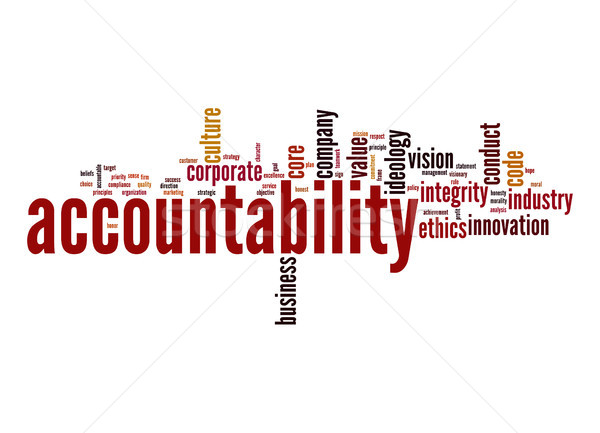 Accountability word cloud Stock photo © tang90246