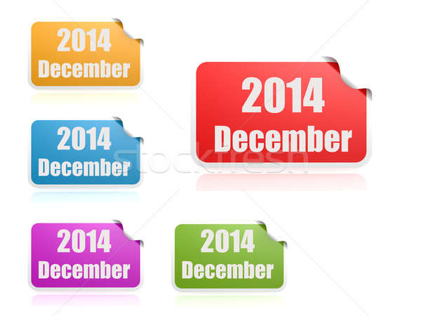 Aralık 2014 iş kâğıt soyut dizayn Stok fotoğraf © tang90246