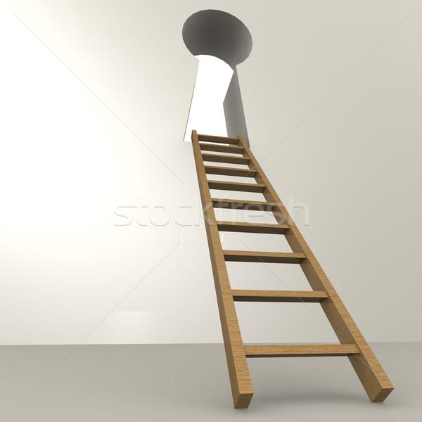 はしご 前方後円墳 ビジネス 光 ホーム ドア ストックフォト © tang90246