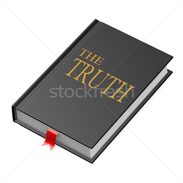 Verdade livro assinar couro sucesso informação Foto stock © tang90246