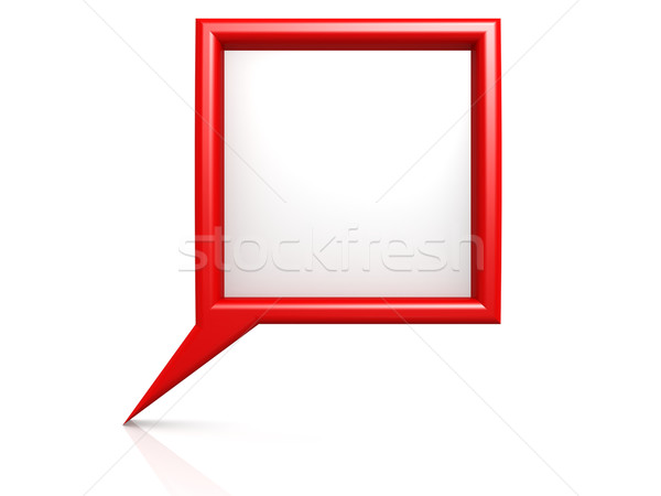 Red dialog bubble Stock photo © tang90246