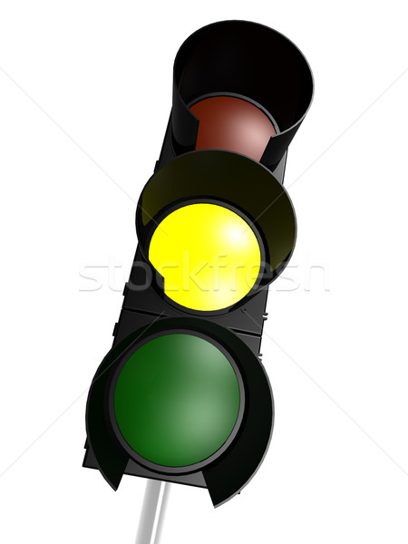 Traffic light with yellow on Stock photo © tang90246