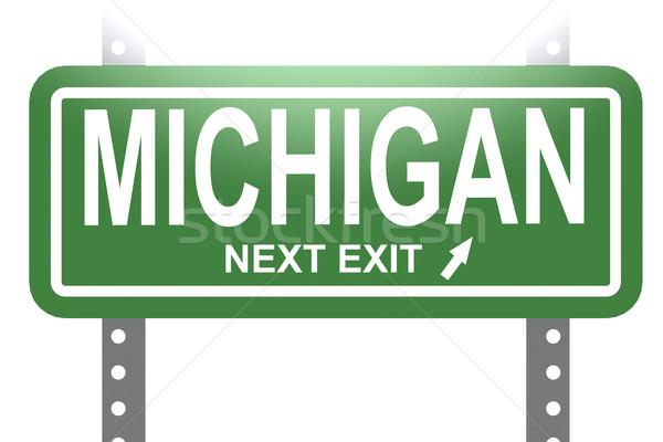Michigan verde segno bordo isolato immagine Foto d'archivio © tang90246