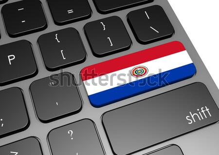 Tablet Paraguay bandiera immagine reso Foto d'archivio © tang90246