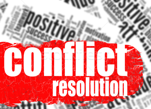 Word cloud conflict resolution Stock photo © tang90246