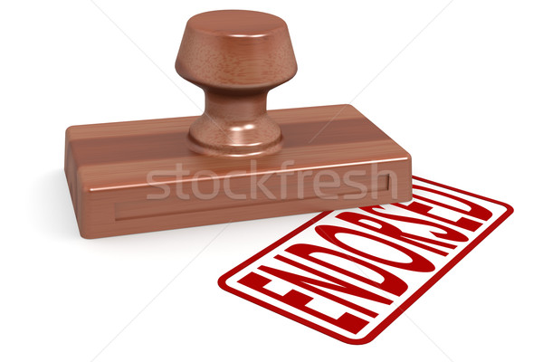 Wooden stamp endorsed with red text Stock photo © tang90246