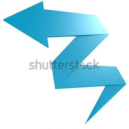 Bend blue arrow Stock photo © tang90246