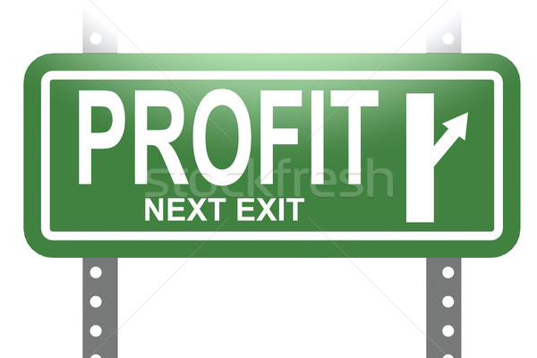 Profit green sign board isolated Stock photo © tang90246