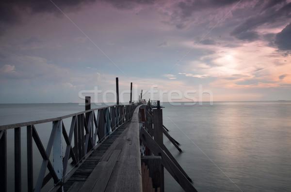 Tanjung Sepat lover jetty Stock photo © tang90246