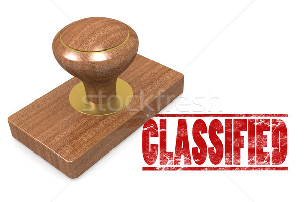 Classified wooded seal stamp Stock photo © tang90246