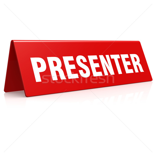 Presenter banner Stock photo © tang90246