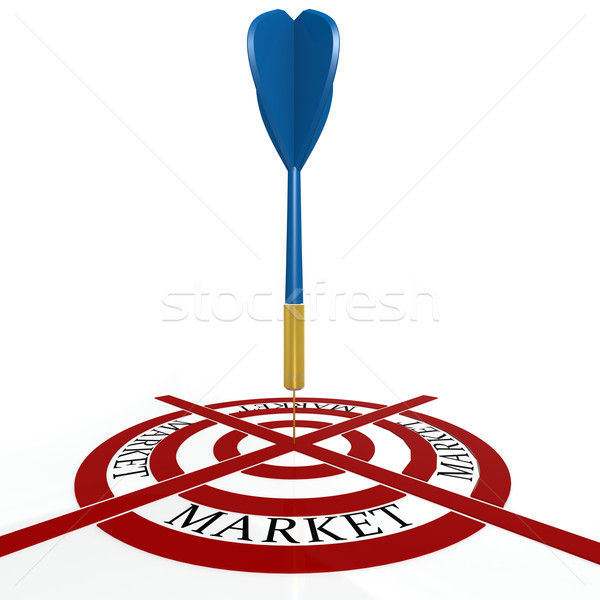 Dart board with market Stock photo © tang90246