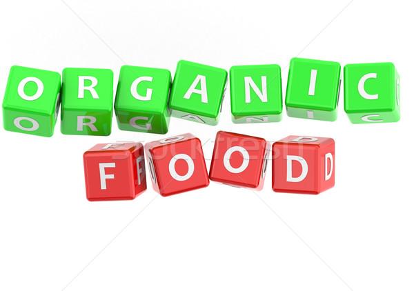 Bioélelmiszer kép renderelt mű használt grafikai tervezés Stock fotó © tang90246
