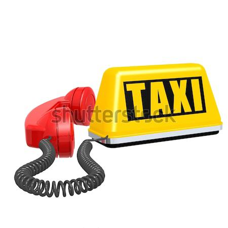 Taxi and phone Stock photo © tang90246