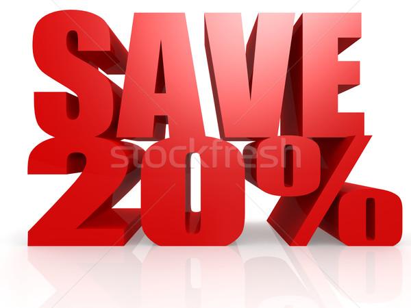 сохранить 20 процент интернет красный Финансы Сток-фото © tang90246