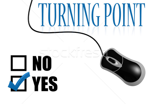 Turning point check mark Stock photo © tang90246