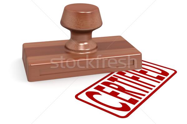 Carimbo certificado vermelho texto imagem Foto stock © tang90246