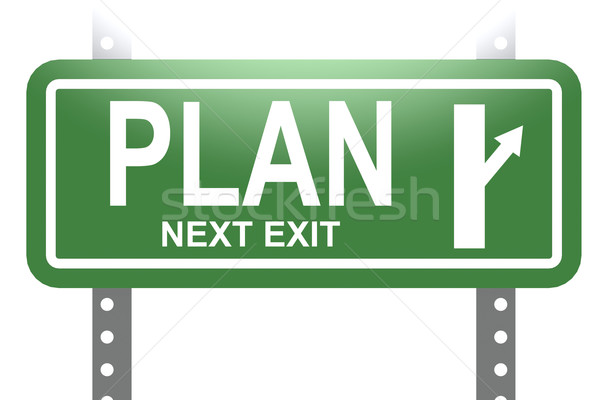 Plan green sign board isolated Stock photo © tang90246